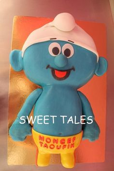 Smurf  Cake by SweetTales