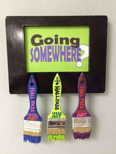 Classroom-Decorating-Ideas-Crafts-Unleashed-13 Art room Hall Pass DIY Paintbrush Hall Pass Sign