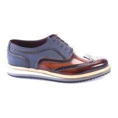 Deckard Bicolores Shoe Wingtip Dress    Tobacco + Dark Blue Elegante  Schuhe 03ceb62ef2d