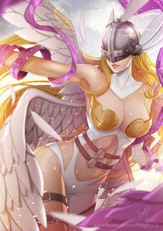 Phrrmp's Phantasies — Angewomon Digimon by magion02