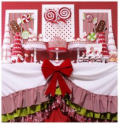 Candy Land Christmas Party - Karas Party Ideas - The Place for All Things Party great christmas desserts Candy Land Christmas, Christmas Party Themes, Noel Christmas, Christmas Goodies, Christmas Treats, Christmas And New Year, Winter Christmas, All Things Christmas, Holiday Parties