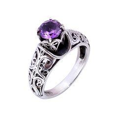 Natural Amethyst Gemstone Ring 925 Sterling Silver Wedding Engagement Gift #Handmade #Filigiri #Wedding