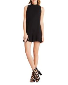 BCBGeneration Mock Neck Romper | Bloomingdale's
