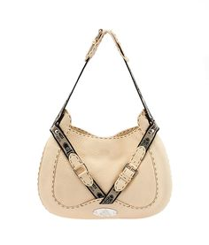Fendi Selleria Cream Leather Hobo Fendi Bags, Hobo Bags, Fendi Bag Bugs,  Hobo ec20857e42