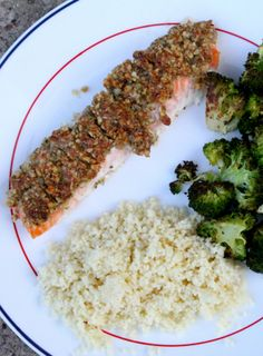 Walnut Crusted Salmon! Great way to bring out the natural flavor of the salmon | brittney breathing