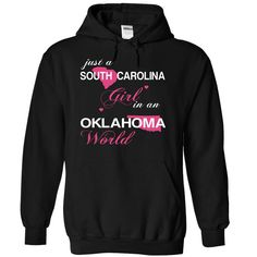 Best gift - (SCJustHong001) Just A South Carolina Girl In A Oklahoma World T-shirt/mug BLACK/NAVY/PINK/WHITE M/L/XL/XXL/3XL/4XL/5XL
