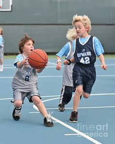 'Small Ball' Fine Art Photography by Jim Carrell Pictured are first grade boys playing competitive basketball as they learn the skills of the sport. Please visit me at www.JimCarrellPhotography.com