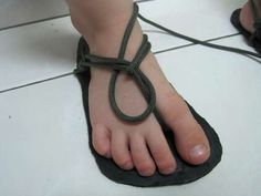 homemade sandals