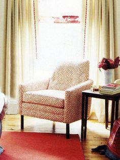 china seas java upholstered chair.  demi adeniran featured in domino
