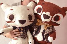 Mr and Mrs Fox for Angela par MarieChou sur Etsy