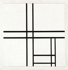 Piet Mondrian, Composition in Black and White, With Double Lines, 1934