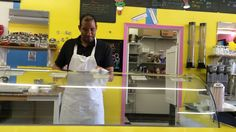 Owner John Hayes dishing up the goods at Waffle Cone... Copperas Cove, Texas... TheGreatPlaceLocal.com