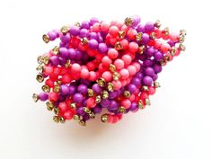 Vintage 1950s Pin Purple Pink Beaded Pop by estatechicago on Etsy, $62.00