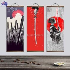 Japanese Ukiyoe for canvas posters and prints decoration painting wall art home decor with solid wood hanging scroll - florentina Japanese Wall Art, Japanese Painting, Canvas Poster, Wall Canvas, Canvas Art, Canvas Prints, Art Prints, Art Mural Japonais, Painting Digital