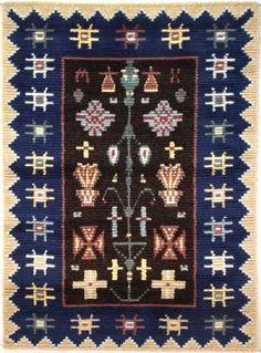 LEMPÄÄLÄ ommellen 125 x 170cm Rya Rug, Wool Rug, Ribbon Work, Traditional Art, Finland, Quilt Patterns, Knots, Arts And Crafts, Carpet