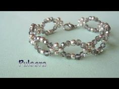 DIY - Pulsera facil de cristalitos y mostacillas plateadas DIY - Easy Bracelet - YouTube