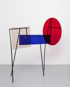 Amalia Pica, Memorial for Intersections #11, 2014. Colour couted steel and coloured Perspex Space Furniture, Furniture Design, Light Gels, Hanger Rack, Sculpture Art, Abstract Sculpture, Museum Of Modern Art, Installation Art, Contemporary