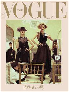 VOGUE ITALIA - JANUARY 2011 COVER MODEL (L-R) FREJA BEHA ERICHSEN & ARIZONA MUSE