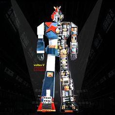 voltes V mechanical Robot Cartoon, Mecha Anime, Super Robot, Robot Design, Robot Art, Me Me Me Anime, Japanese, Manga, Superhero
