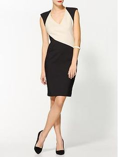 Black Halo Jagger Colorblocked Dress | Piperlime