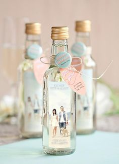 Cute and Simple Bachelorette Party Favors: Wine or Champagne Bachelorette Party Favors