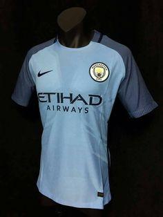Manchester City FC Player Home Football Shirt Neme JSY 2016 2017 Soccer Men   Nike fc3dd26a819b3