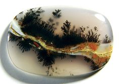 Natural Dendritic Moss Аgate cabochon