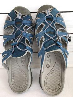 7f04f50ef7e6 Keen Whisper Slides Sandals Slipon Waterproof Blue Women s Size