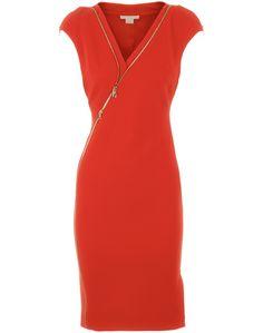 Tangerine Tango Multi  Zip Dress