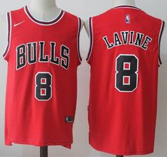 a2e61b765b2 Nike Bulls #8 Zach LaVine Red Road NBA Swingman Jersey Cheap Nba Jerseys,  Nhl