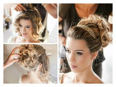 Dia da noiva   Making of da noiva   Bride   Inesquecível Casamento   Penteado de noiva   Hair   Hairstyle   Coque para noiva   Acessório luxuoso