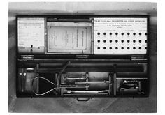 Mallette de mensuration anthropométrique conçue par Alphonse Bertillon, 1905