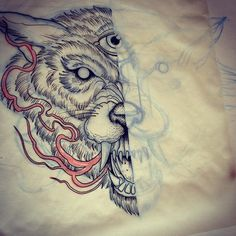 chest tattoo wolf - Buscar con Google