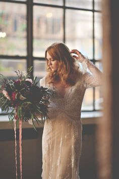 #inbaldror industrial romantic fall wedding inspiration - photo by Christina Block Photography http://ruffledblog.com/industrial-romantic-fall-wedding-inspiration
