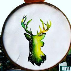 Deer Norway silk painting by Feliciazoe Silk Painting, Norway, Aurora, Deer, Animals, Art, Art Background, Animales, Animaux