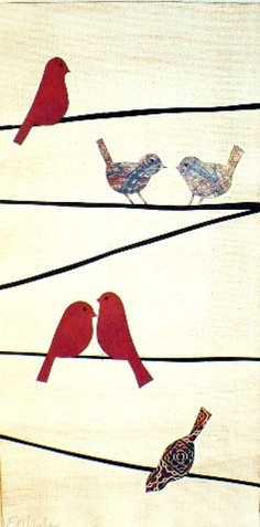 Red Birds on Wires