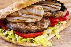 Sandwich Recipes Grilled Portobello Sandwich, Portobello Sandwich with Roasted Pepper Mayonnaise – Cooking Crossroads, Barbecue Recipes, Grilling Recipes, Grilled Portobello, Bbq Party, Sandwich Recipes, Mayonnaise, Thanksgiving Recipes, Hamburger, Roast