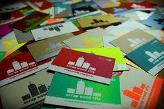 Dimitris Klonos Art Directory: Scrap wood city's business cards