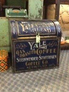 Antique Tin Coffee Canister from General Store « chifferobehomeandgarden.com