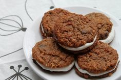 """Oatmeal Creme Pies"" grain-free, gluten-free and refined sugar-free"