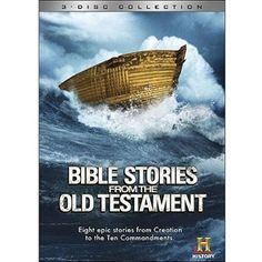 "Bible Stories From The Old Testament   Disc One: ""Mysteries of the Bible - The Story of Creation"", ""Adam and Eve - Lost Innocence"", and ""History's Mysteries - Sodom and Gomorrah"". Disc Two: ""Mega Disasters - Noah's Great Flood"", ""Moses and the Ten Commandments"", ""Battles BC - Joshua's Epic Slaughter"". Disc Three: ""Samson and Delilah - Love and Betrayal"", ""Battles BC: David - Giant Slayer"", and ""Solomon""."