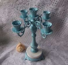 Shabby Chic Robins Egg Blue Vintage Candle by happybdaytome, $69.00
