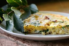 Italian Food Forever » Country Frittata With Potatoes, Pancetta & Basil