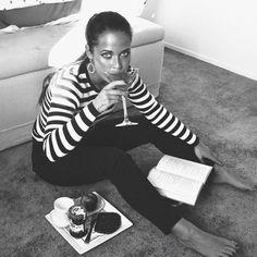 AUDREY HEPBURN INSPIRED | stripes top cigarette pants @muriellevanschaik