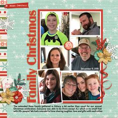 Class: Design Beautiful Pages at Digital Scrapper Tutorial: Rocking the Rectangular Grid by Linda Sattgast   Photos: Lori Gaudreau  Template: Digital Scrapper #9 Kit: Time for Mistletoe and Holly by Jady Day Studio  Fonts: Guanine, Dosis Bold