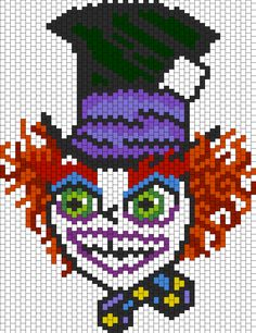 Crazy Mad Hatter bead pattern