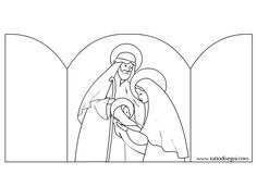 Nativity Coloring Page plus other Christmas coloring pages