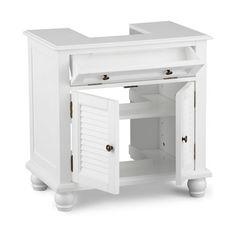 ... Sink Storage Unit White Bathroom storage, Basin sink and Pedestal