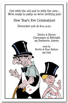 hello goodbye new year invitation new years invitations new years eve invitations party invitations