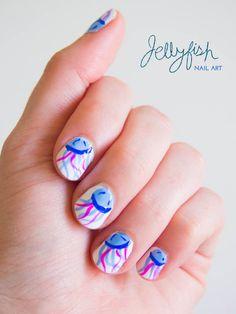 Jellyfish Summer Nail Art